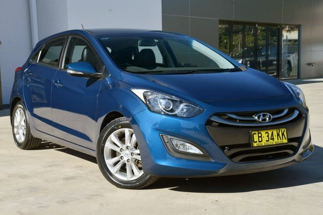 Used Hyundai i30 GD2 MY14 Trophy, 2014 Hyundai i30 GD2 MY14 Trophy Blue 6 Speed Manual Hatchback