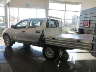2018 Mitsubishi Triton MQ MY18 GLX (4x4) Sterling Silver 5 Speed Automatic Dual Cab Chassis.