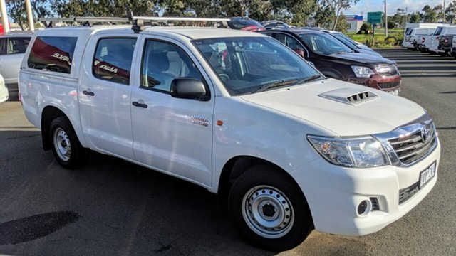 Used Toyota Hilux KUN16R MY14 SR Xtra Cab 4x2, 2014 Toyota Hilux KUN16R MY14 SR Xtra Cab 4x2 White 5 Speed Manual Utility