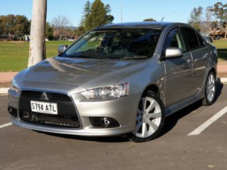 2012 Mitsubishi Lancer CJ MY12 VR-X Silver 6 Speed Constant Variable Sedan.