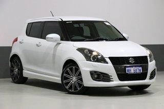 2014 Suzuki Swift FZ MY14 Sport White 6 Speed Manual Hatchback.