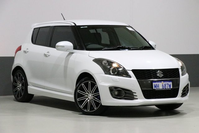 Used Suzuki Swift FZ MY14 Sport, 2014 Suzuki Swift FZ MY14 Sport White 6 Speed Manual Hatchback