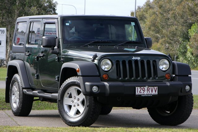 Used Jeep Wrangler JK MY2010 Unlimited Sport, 2011 Jeep Wrangler JK MY2010 Unlimited Sport Green 6 Speed Manual Softtop