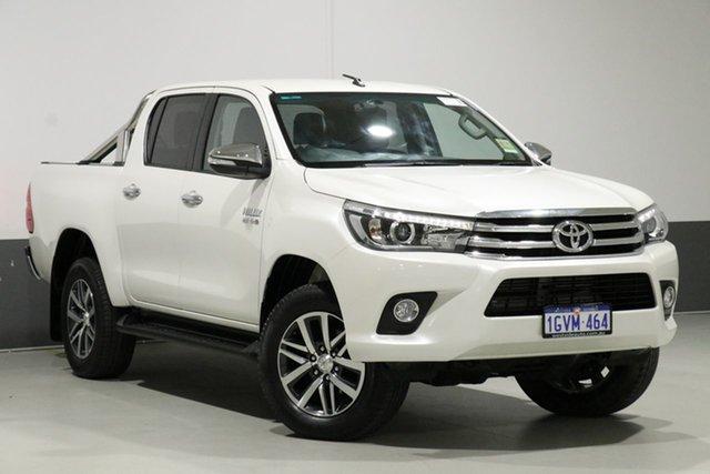 Used Toyota Hilux GUN126R SR5 (4x4), 2017 Toyota Hilux GUN126R SR5 (4x4) Crystal Pearl 6 Speed Manual Dual Cab Utility