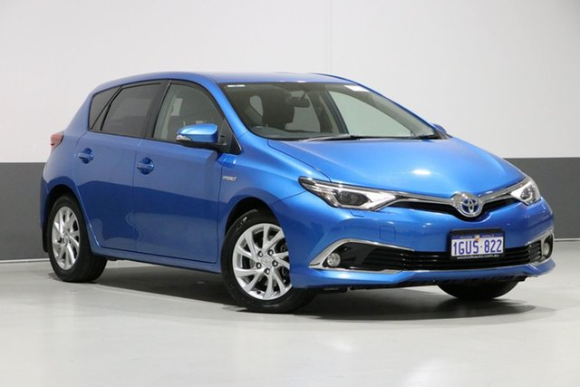 Used Toyota Corolla ZWE186R MY16 Hybrid, 2016 Toyota Corolla ZWE186R MY16 Hybrid Blue Continuous Variable Hatchback