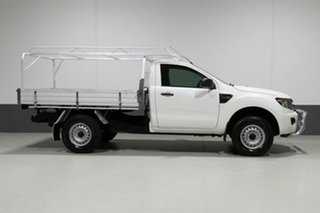 2014 Ford Ranger PX XL 2.2 Hi-Rider (4x2) White 6 Speed Manual Cab Chassis