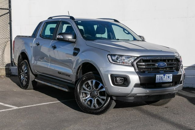 Used Ford Ranger PX MkIII 2019.00MY Wildtrak Pick-up Double Cab, 2018 Ford Ranger PX MkIII 2019.00MY Wildtrak Pick-up Double Cab Silver 10 Speed Sports Automatic