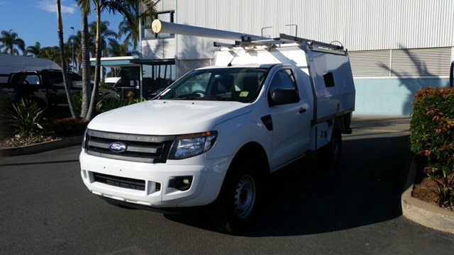 Used Ford Ranger PX XL 4x2 Hi-Rider, 2014 Ford Ranger PX XL 4x2 Hi-Rider White 6 Speed Manual Cab Chassis