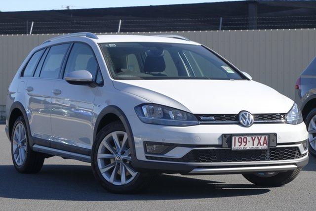 Demo Volkswagen Golf 7.5 MY19 Alltrack DSG 4MOTION 132TSI, 2018 Volkswagen Golf 7.5 MY19 Alltrack DSG 4MOTION 132TSI Pure White 6 Speed