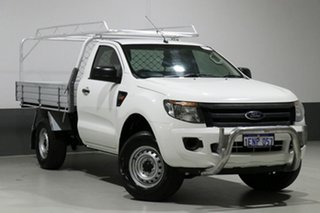 2014 Ford Ranger PX XL 2.2 Hi-Rider (4x2) White 6 Speed Manual Cab Chassis.
