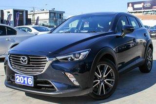 2016 Mazda CX-3 DK2W76 sTouring SKYACTIV-MT Blue 6 Speed Manual Wagon.