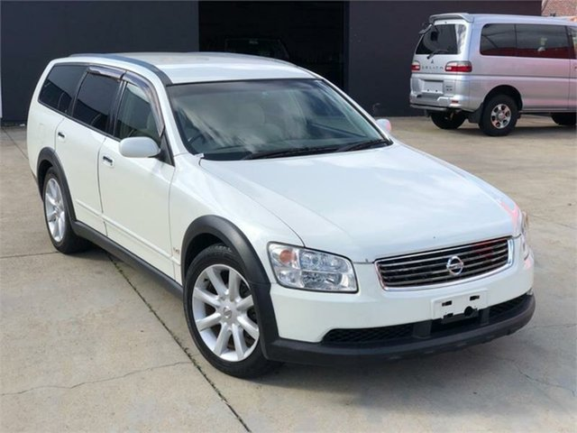 Used Nissan Stagea  AR-X Four, 2005 Nissan Stagea AR-X Four White Automatic Wagon