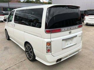 2005 Nissan Elgrand NE51 Rider S White Automatic Wagon