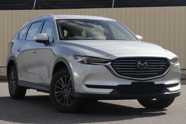 New Mazda CX-8 KG2WLA Sport SKYACTIV-Drive FWD Hindmarsh, 2020 Mazda CX-8 KG2WLA Sport SKYACTIV-Drive FWD Sonic Silver 6 Speed Sports Automatic Wagon