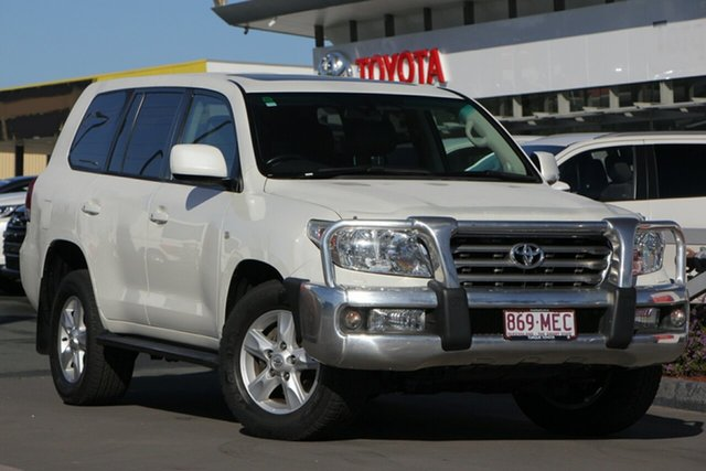 Used Toyota Landcruiser VDJ200R MY10 Sahara, 2011 Toyota Landcruiser VDJ200R MY10 Sahara Crystal Pearl 6 Speed Sports Automatic Wagon