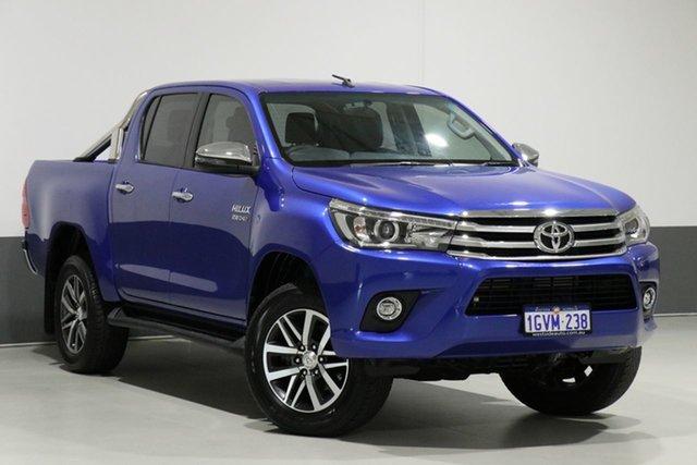 Used Toyota Hilux GUN126R MY17 SR5 (4x4), 2018 Toyota Hilux GUN126R MY17 SR5 (4x4) Blue 6 Speed Manual Dual Cab Utility