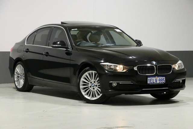 Used BMW 320d F30 MY14 Luxury Line, 2014 BMW 320d F30 MY14 Luxury Line Black Sapphire 8 Speed Automatic Sedan