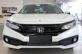 2019 Honda Civic 10th Gen MY19 VTi-LX Platinum White 1 Speed Constant Variable Hatchback