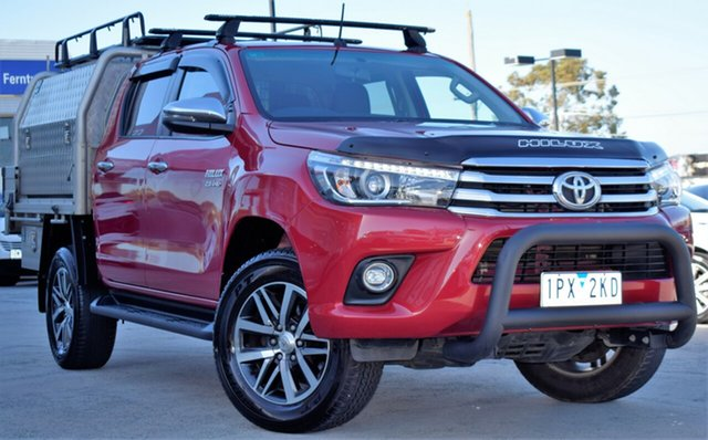 Used Toyota Hilux GUN126R SR5 Double Cab, 2017 Toyota Hilux GUN126R SR5 Double Cab Red/Black 6 Speed Sports Automatic Utility