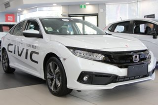 2019 Honda Civic 10th Gen MY19 VTi-LX Platinum White 1 Speed Constant Variable Hatchback.