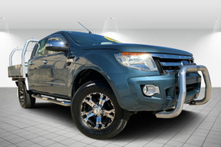 2012 Ford Ranger PX XLT Double Cab Blue 6 Speed Sports Automatic Utility.
