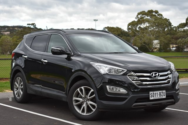 Used Hyundai Santa Fe DM MY13 Elite, 2013 Hyundai Santa Fe DM MY13 Elite Black 6 Speed Sports Automatic Wagon