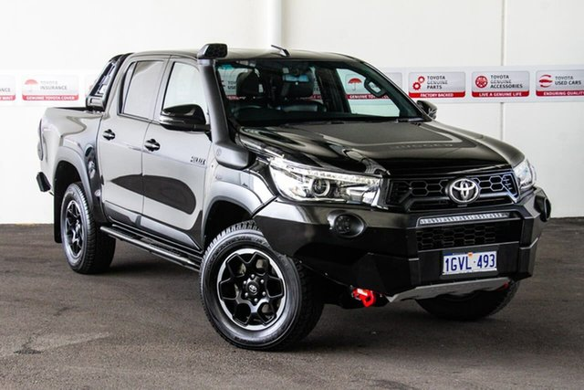 Used Toyota Hilux GUN126R Rugged X (4x4), 2018 Toyota Hilux GUN126R Rugged X (4x4) Eclipse Black 6 Speed Automatic Dual Cab Utility
