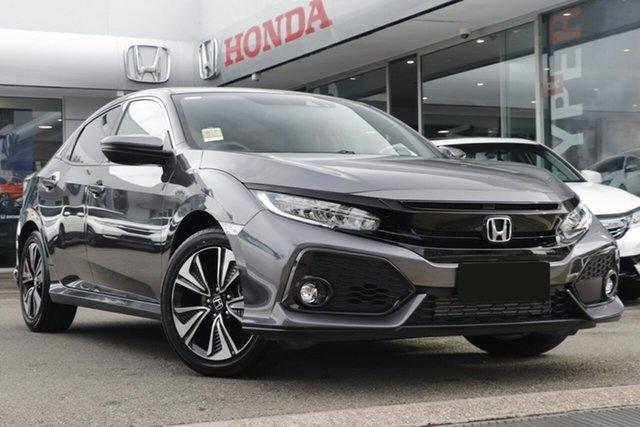 New Honda Civic 10th Gen MY19 VTi-LX, 2019 Honda Civic 10th Gen MY19 VTi-LX Modern Steel 1 Speed Constant Variable Hatchback