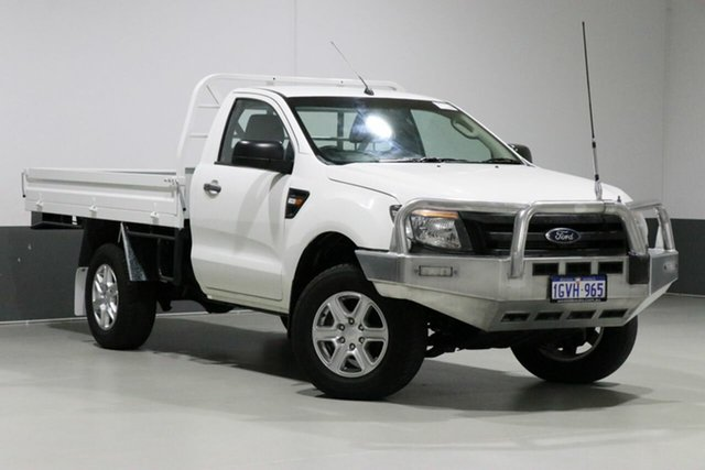 Used Ford Ranger PX XL 2.2 (4x2), 2013 Ford Ranger PX XL 2.2 (4x2) White 6 Speed Manual Cab Chassis
