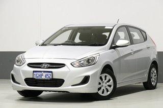 2017 Hyundai Accent RB4 MY17 Active Silver 6 Speed Manual Sedan.