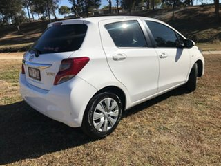 2015 Toyota Yaris NCP130R MY15 Ascent Glacier White 4 Speed Automatic Hatchback.