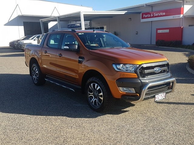 Used Ford Ranger PX MkII MY17 Wildtrak 3.2 (4x4), 2016 Ford Ranger PX MkII MY17 Wildtrak 3.2 (4x4) Orange 6 Speed Automatic Dual Cab Pick-up