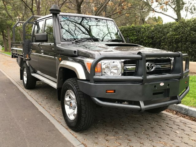 Used Toyota Landcruiser VDJ79R MY13 GXL Double Cab, 2014 Toyota Landcruiser VDJ79R MY13 GXL Double Cab Grey 5 Speed Manual Cab Chassis