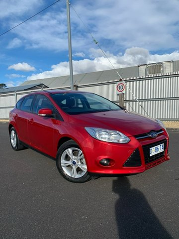 Used Ford Focus LW MkII Trend PwrShift, 2014 Ford Focus LW MkII Trend PwrShift Red 6 Speed Sports Automatic Dual Clutch Hatchback
