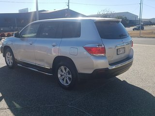 2011 Toyota Kluger GSU40R MY11 Upgrade KX-R (FWD) 5 Seat Silver Pearl 5 Speed Automatic Wagon