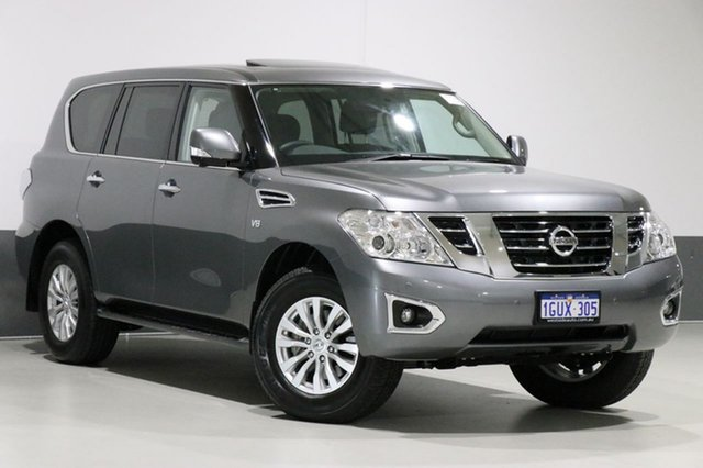 Used Nissan Patrol Y62 Series 4 MY18 TI (4x4), 2019 Nissan Patrol Y62 Series 4 MY18 TI (4x4) Grey 7 Speed Automatic Wagon
