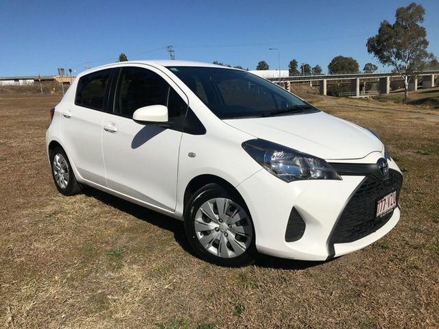 Used Toyota Yaris NCP130R MY15 Ascent, 2015 Toyota Yaris NCP130R MY15 Ascent Glacier White 4 Speed Automatic Hatchback