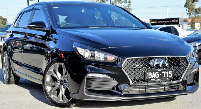 Used Hyundai i30 PD.3 MY19 N Line D-CT, 2019 Hyundai i30 PD.3 MY19 N Line D-CT Phantom Black 7 Speed Sports Automatic Dual Clutch Hatchback