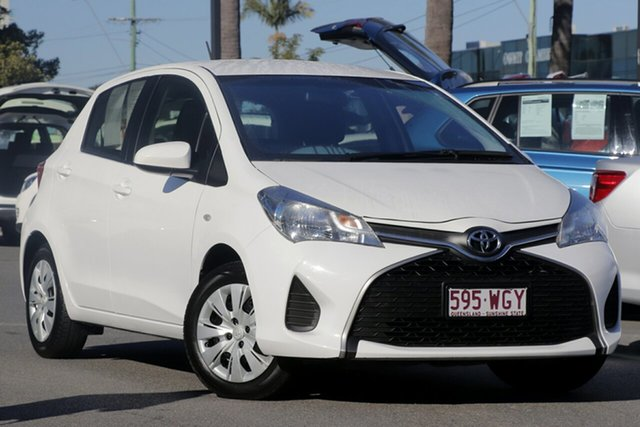 Used Toyota Yaris NCP130R Ascent, 2015 Toyota Yaris NCP130R Ascent White 4 Speed Automatic Hatchback