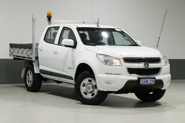Used Holden Colorado RG MY15 LS (4x2), 2015 Holden Colorado RG MY15 LS (4x2) White 6 Speed Manual Crew Cab Chassis