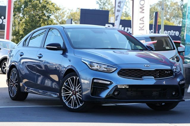 New Kia Cerato BD MY20 GT DCT, 2019 Kia Cerato BD MY20 GT DCT Gravity Blue 7 Speed Sports Automatic Dual Clutch Hatchback