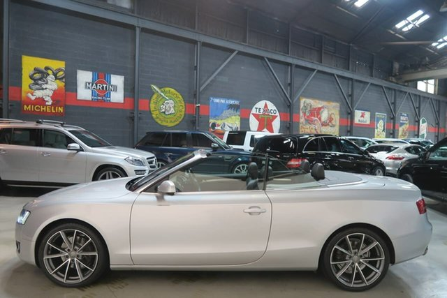 Used Audi A5 8T MY10 S Tronic Quattro, 2010 Audi A5 8T MY10 S Tronic Quattro Silver 7 Speed Sports Automatic Dual Clutch Cabriolet