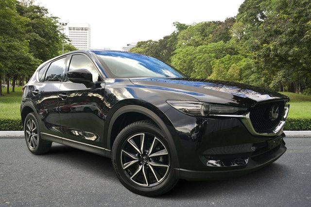 Used Mazda CX-5 KF4WLA Akera SKYACTIV-Drive i-ACTIV AWD, 2017 Mazda CX-5 KF4WLA Akera SKYACTIV-Drive i-ACTIV AWD Black 6 Speed Sports Automatic Wagon