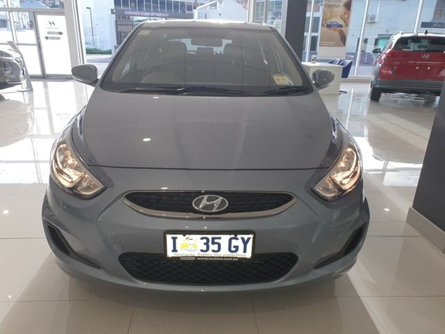 Demo Hyundai Accent RB6 MY18 Sport, 2019 Hyundai Accent RB6 MY18 Sport Lake Silver 6 Speed Sports Automatic Hatchback