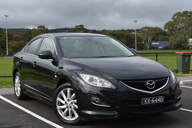 Used Mazda 6 GH1052 MY12 Touring, 2012 Mazda 6 GH1052 MY12 Touring Black 5 Speed Sports Automatic Hatchback