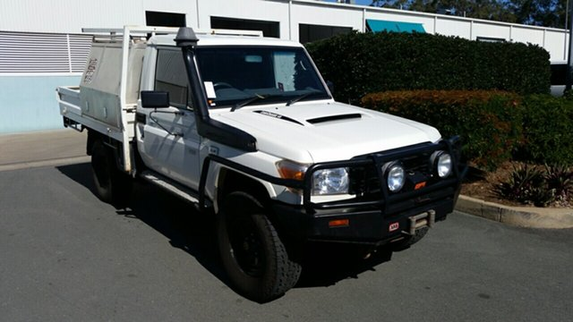 Used Toyota Landcruiser VDJ79R Workmate, 2014 Toyota Landcruiser VDJ79R Workmate White 5 Speed Manual Cab Chassis