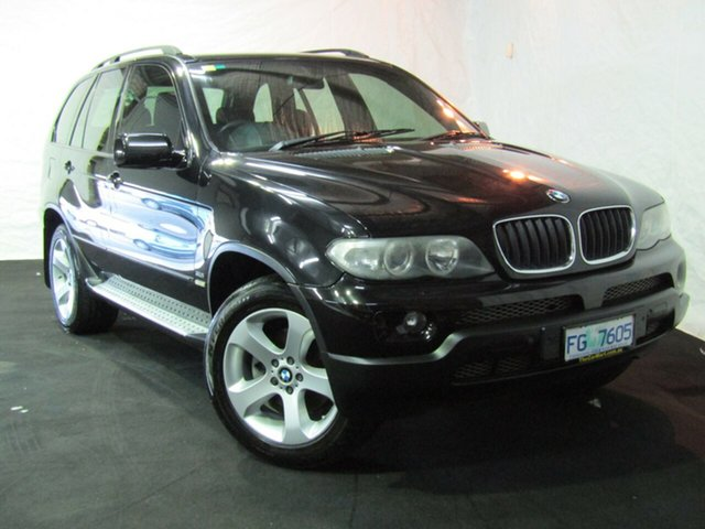 Used BMW X5 E53 MY05 Steptronic, 2005 BMW X5 E53 MY05 Steptronic Black 5 Speed Sports Automatic Wagon
