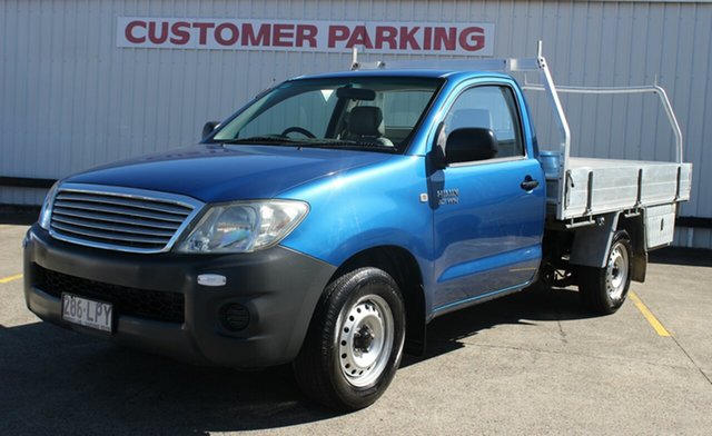 Used Toyota Hilux TGN16R MY09 Workmate 4x2, 2009 Toyota Hilux TGN16R MY09 Workmate 4x2 Blue 5 Speed Manual Cab Chassis