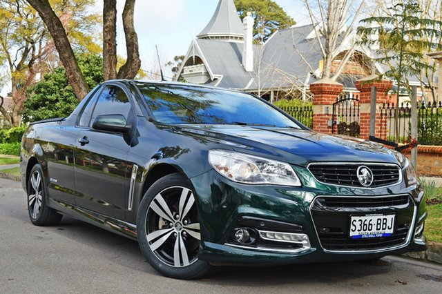 Used Holden Ute VF MY14 SS Ute Storm, 2014 Holden Ute VF MY14 SS Ute Storm Green 6 Speed Manual Utility