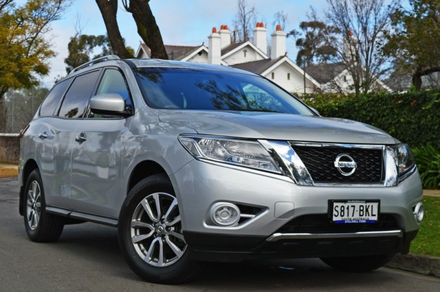 Used Nissan Pathfinder R52 MY16 ST X-tronic 2WD, 2016 Nissan Pathfinder R52 MY16 ST X-tronic 2WD Silver 1 Speed Constant Variable Wagon